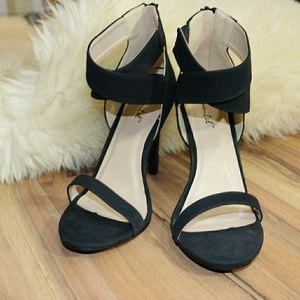 Black Never Worn Double Ankle Strap Heels